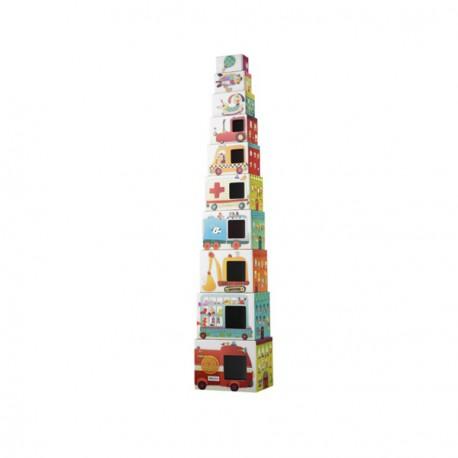 Χάρτινοι κύβοι πυραμίδα Lilliputiens