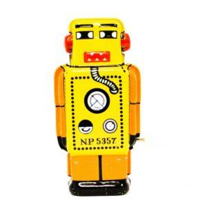 τσίγκινο κουρδιστό ρομπότ
