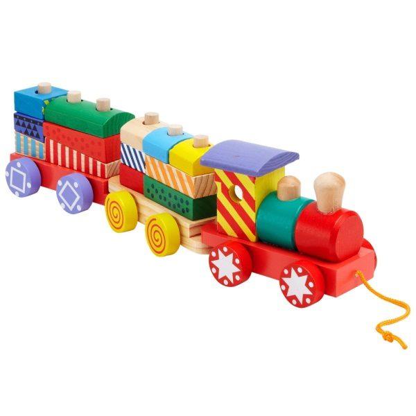 Ξύλινο συρόμενο τρένο