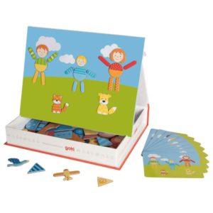 Βιβλίο με μαγνητικά σχήματα και εικόνες