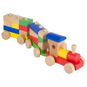 ξύλινο τρένο με πίρους