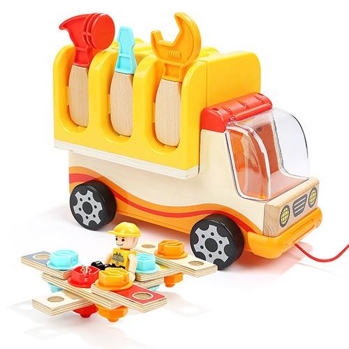 Top Bright ξύλινο φορτηγό με εργαλεία