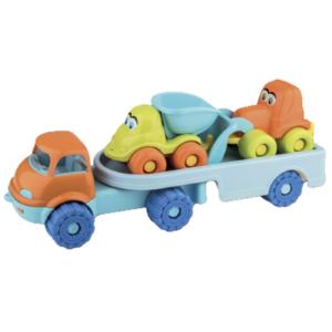 Μεγάλη πλαστική νταλίκα με αυτοκίνητα Androni Giocattoli