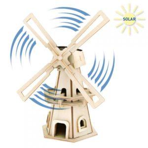 ξύλινος ανεμόμυλος solar Pebaro