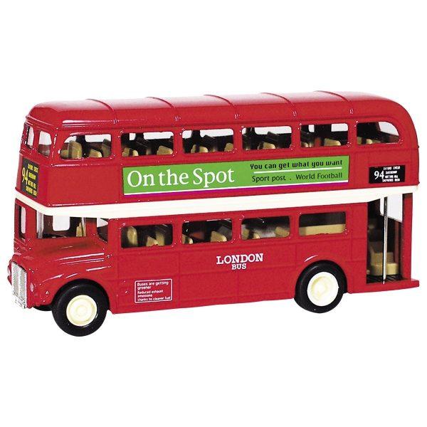 Μεταλλικό εγγλέζικο λεωφορείο