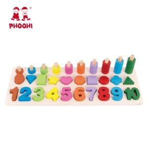Ξύλινη βάση αρίθμησης Phoohi