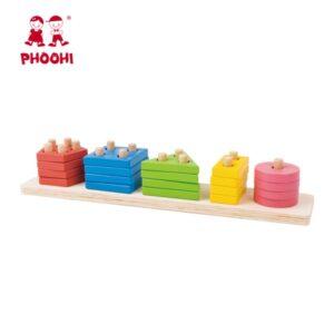 Ξύλινη βάση με σχήματα Phoohi
