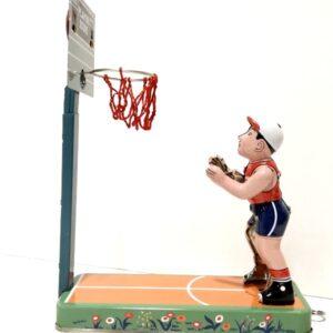 Τσίγκινος κουρδιστός μπασκετμπολίστας