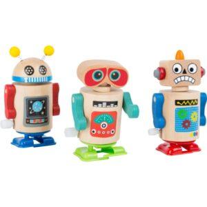 Ξύλινο κουρδιστό ρομπότ