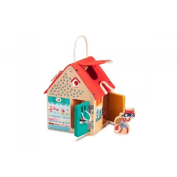 Ξύλινο σπίτι δραστηριοτήτων Lilliputiens
