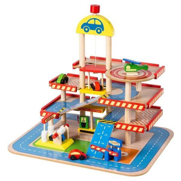 Ξύλινο γκαράζ Eva Toys