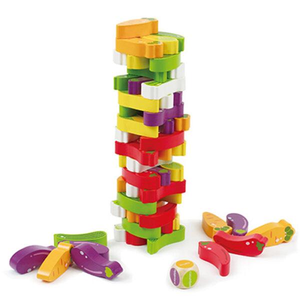 Παιδικό ξύλινο Jenga Eva Toys