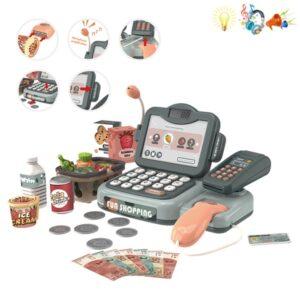 Παιδική ταμειακή μηχανή με προϊόντα